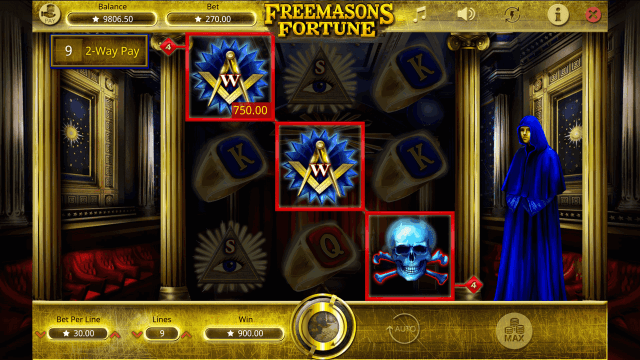 Характеристики слота Freemasons Fortune 8