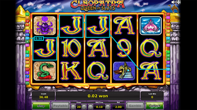 Характеристики слота Cleopatra Queen Of Slots 10