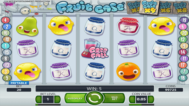 Характеристики слота Fruit Case 5